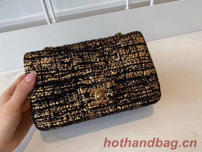 Chanel classic handbag Tweed & Gold-Tone Metal A01116-1