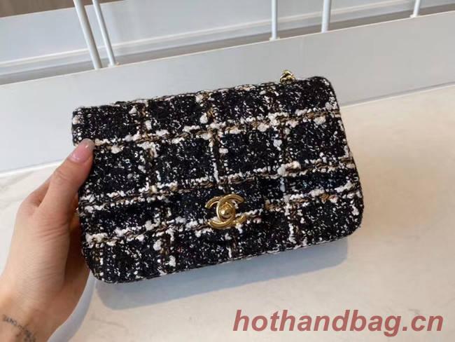 Chanel classic handbag Tweed & Gold-Tone Metal A01116-2