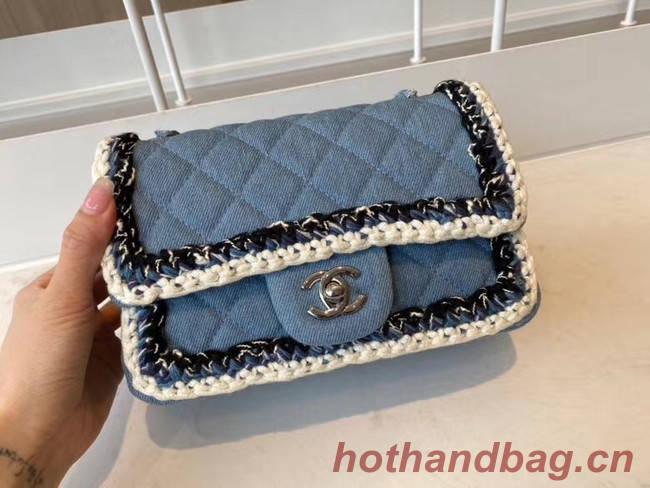 Chanel classic handbag Tweed & silver-Tone Metal A01116-3