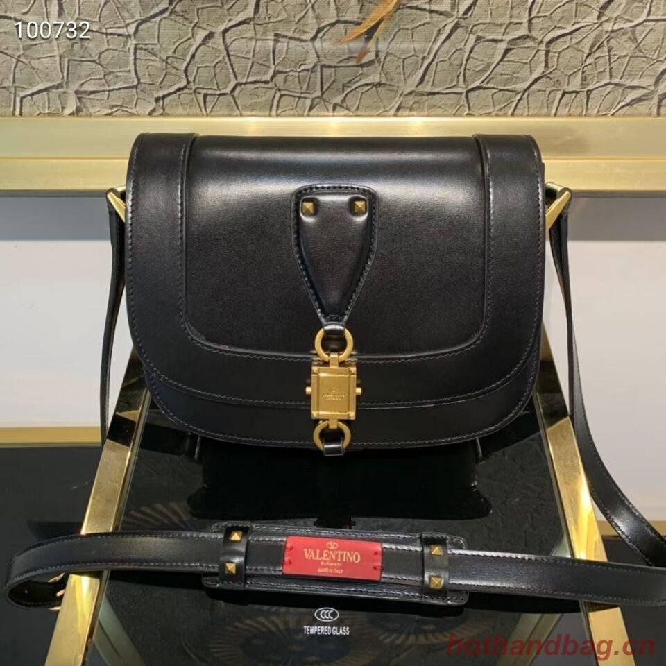 VALENTINO Origianl leather shoulder bag V0070 black