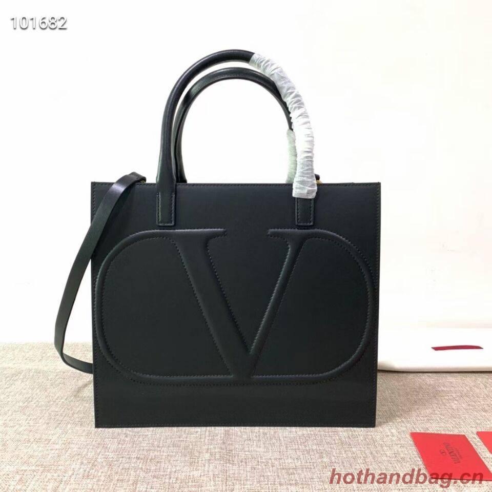 VALENTINO Origianl leather tote V2021 black