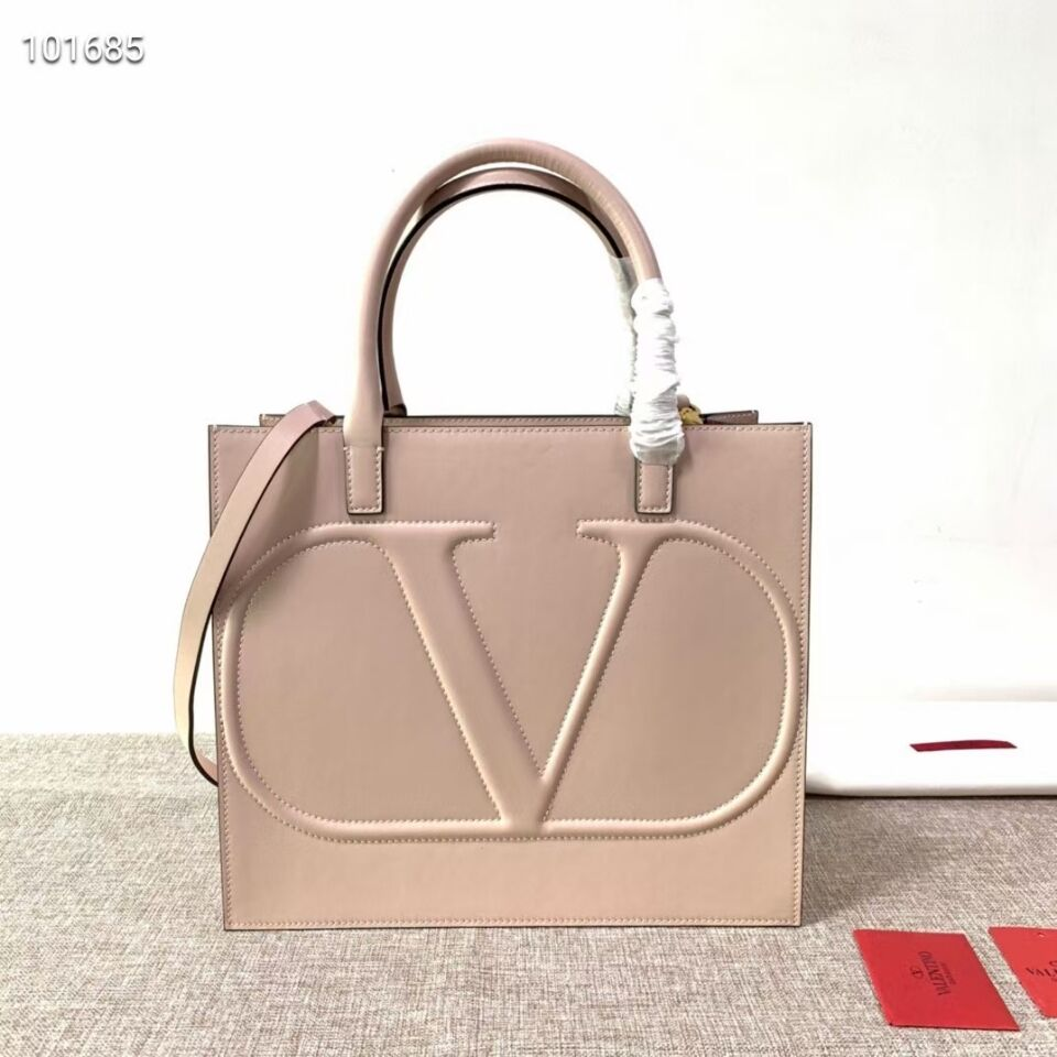 VALENTINO Origianl leather tote V2021 light pink