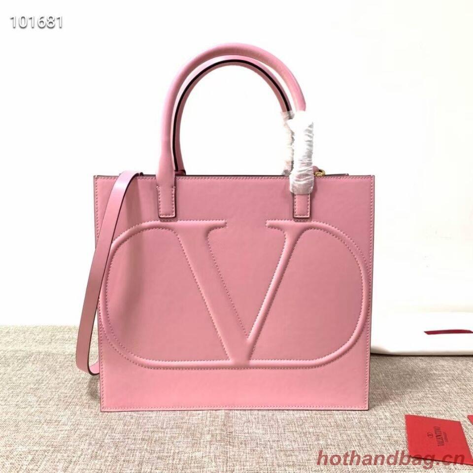 VALENTINO Origianl leather tote V2021 pink