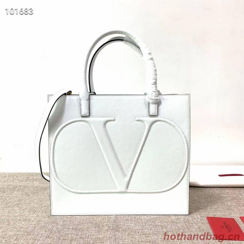 VALENTINO Origianl leather tote V2021 white