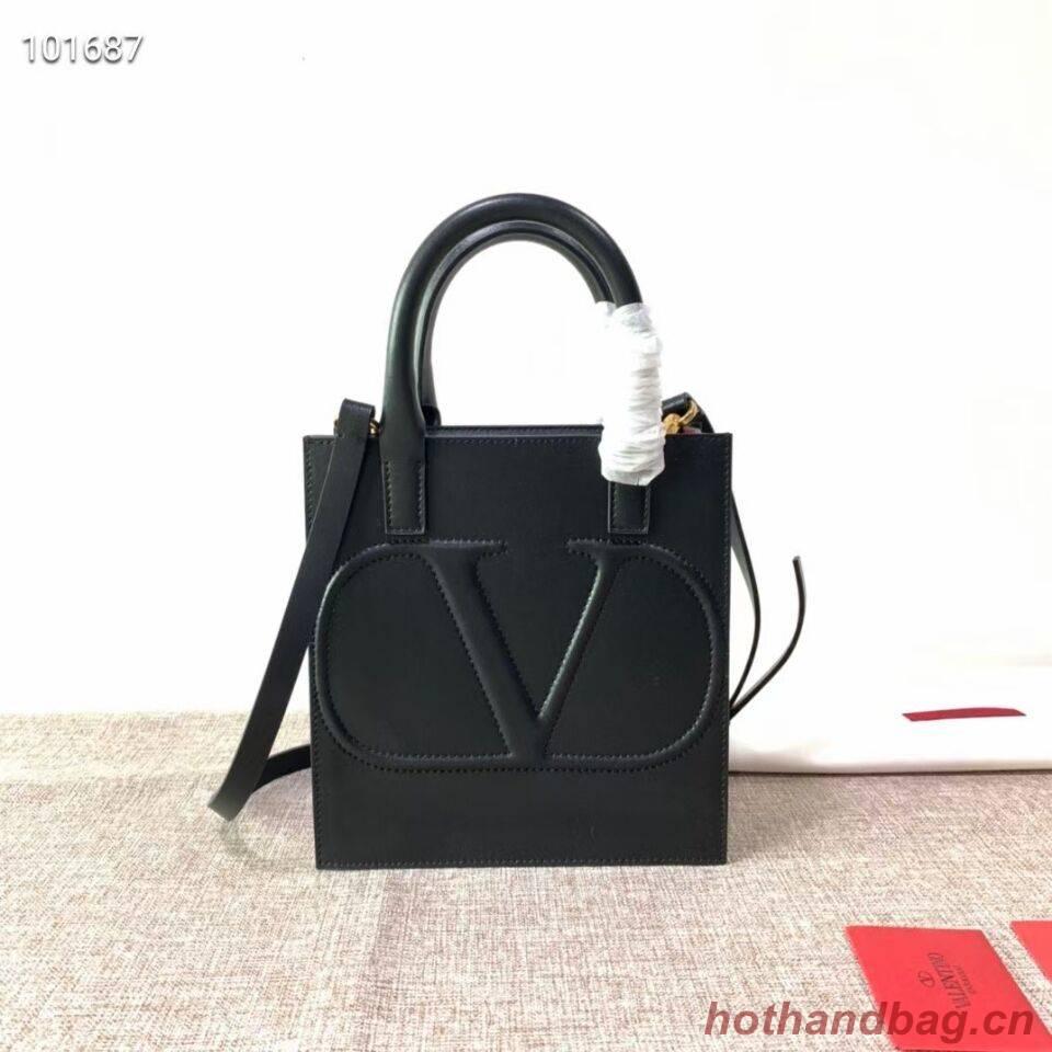 VALENTINO Origianl leather tote V2022 black
