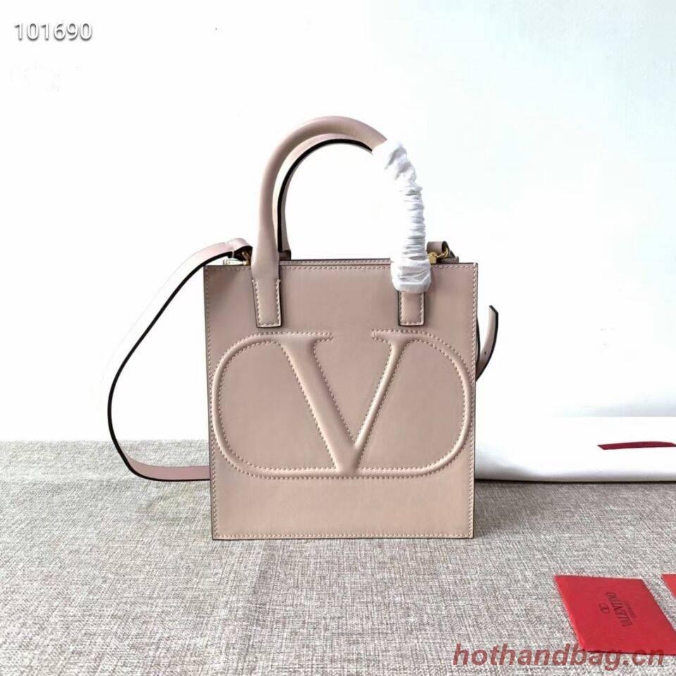 VALENTINO Origianl leather tote V2022 light pink