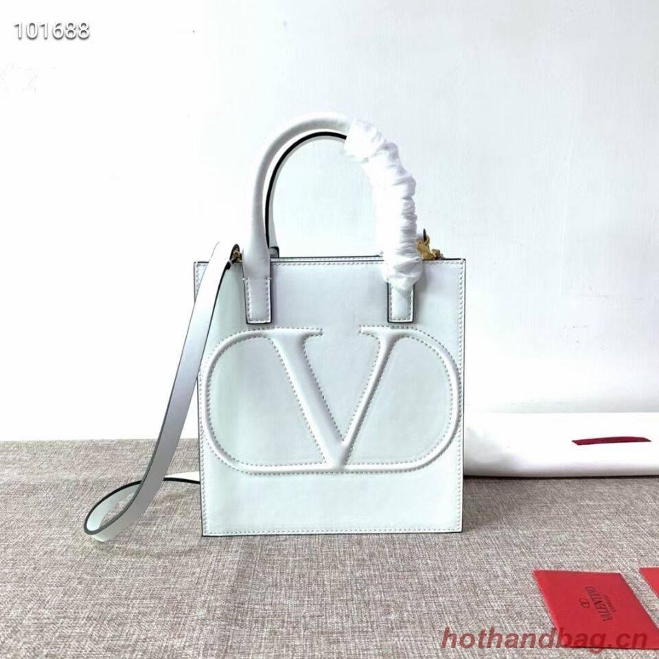 VALENTINO Origianl leather tote V2022 white