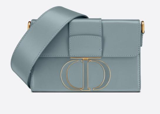 DIOR 30 MONTAIGNE BOX BAG Mint Cloud Blue Box Calfskin M9204U