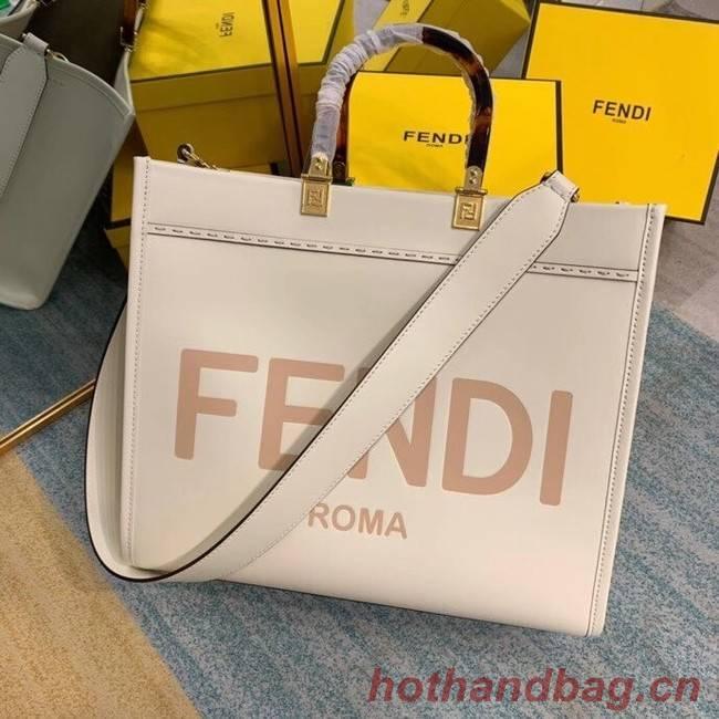 FENDI SUNSHINE MEDIUM beige leather shopper 8BH386A