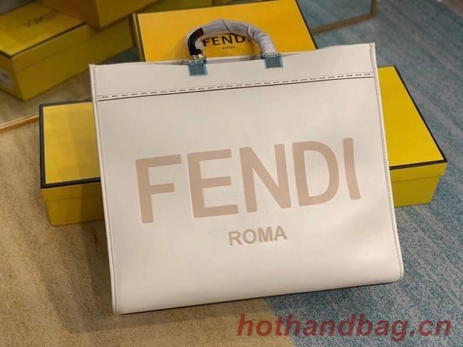 FENDI SUNSHINE large beige leather shopper 8BH387A