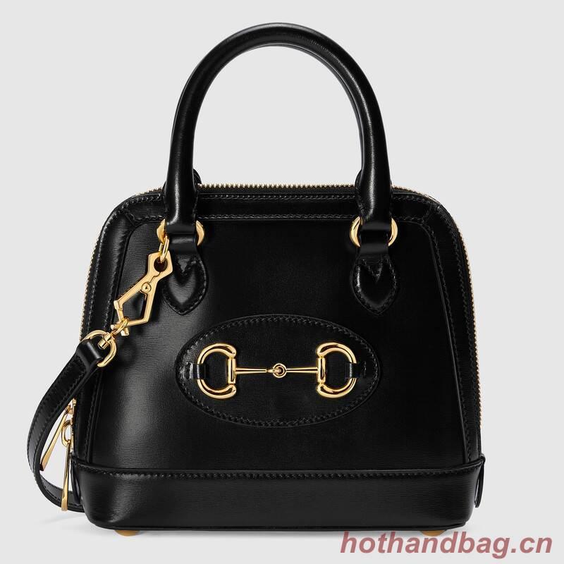 Gucci Horsebit 1955 mini top handle bag 640716 black