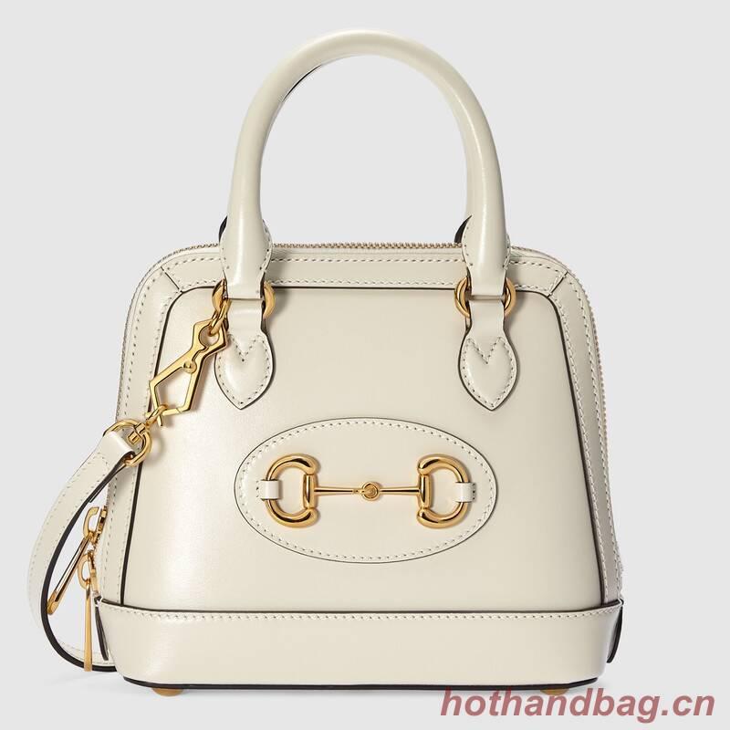 Gucci Horsebit 1955 mini top handle bag 640716 white