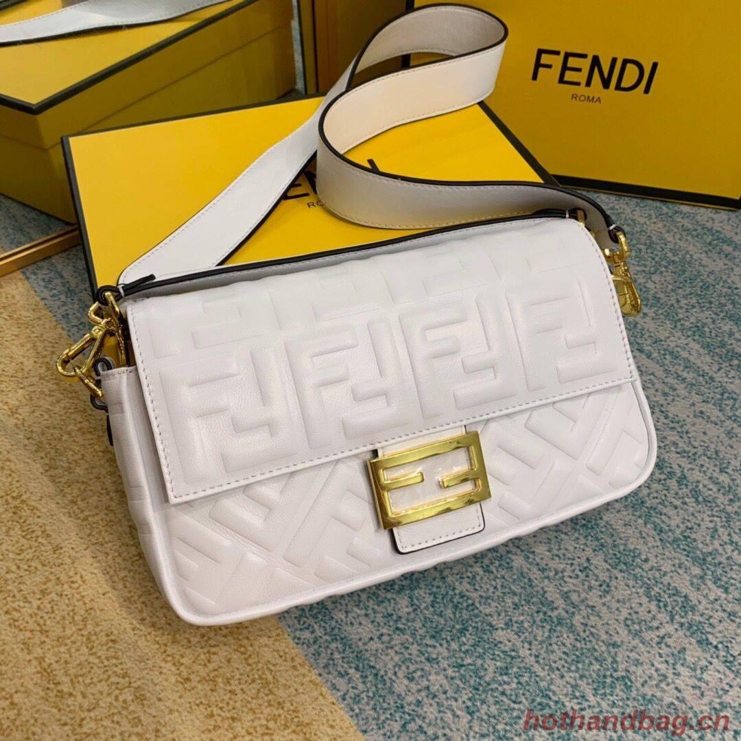 Fendi BAGUETTE Shoulder Bag 8BR600 white