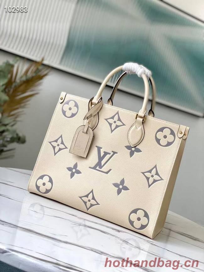 Louis Vuitton Original Onthego medium tote bag M45495 cream