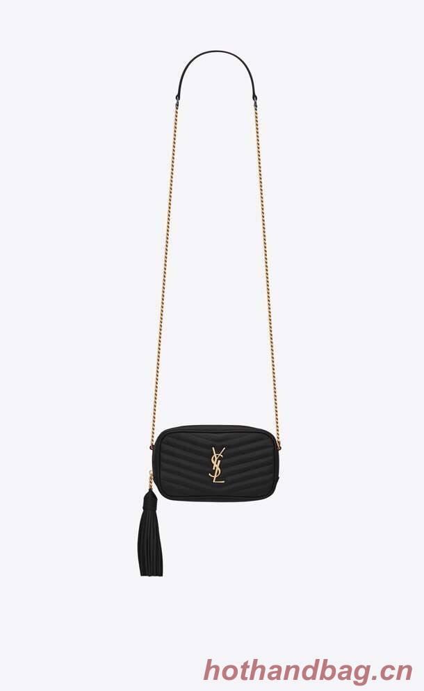 Yves Saint Laurent VINTAGE CAMERA BAG IN Calfskin Leather 6125791 black