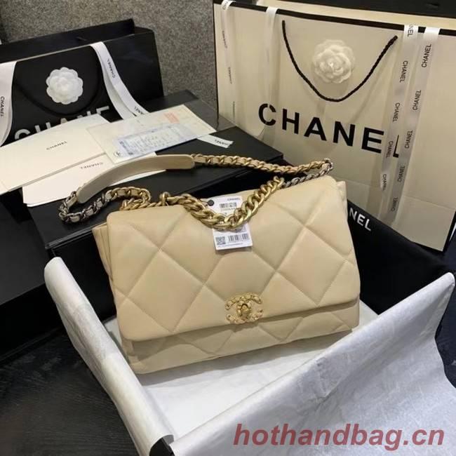 chanel 19 large flap bag AS1162 Light apricot