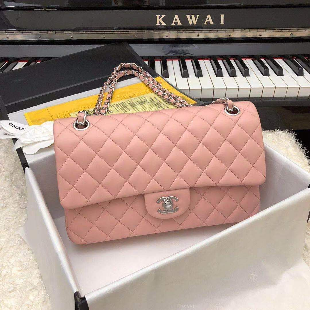 Chanel Jumbo Double Flaps Bags  Original Sheepskin Leather Pink A36097 Gold