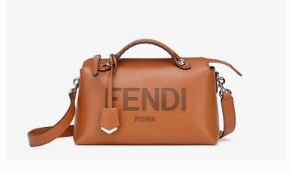 FENDI MEDIUM BY THE WAY leather Boston bag 8BL146A Brown