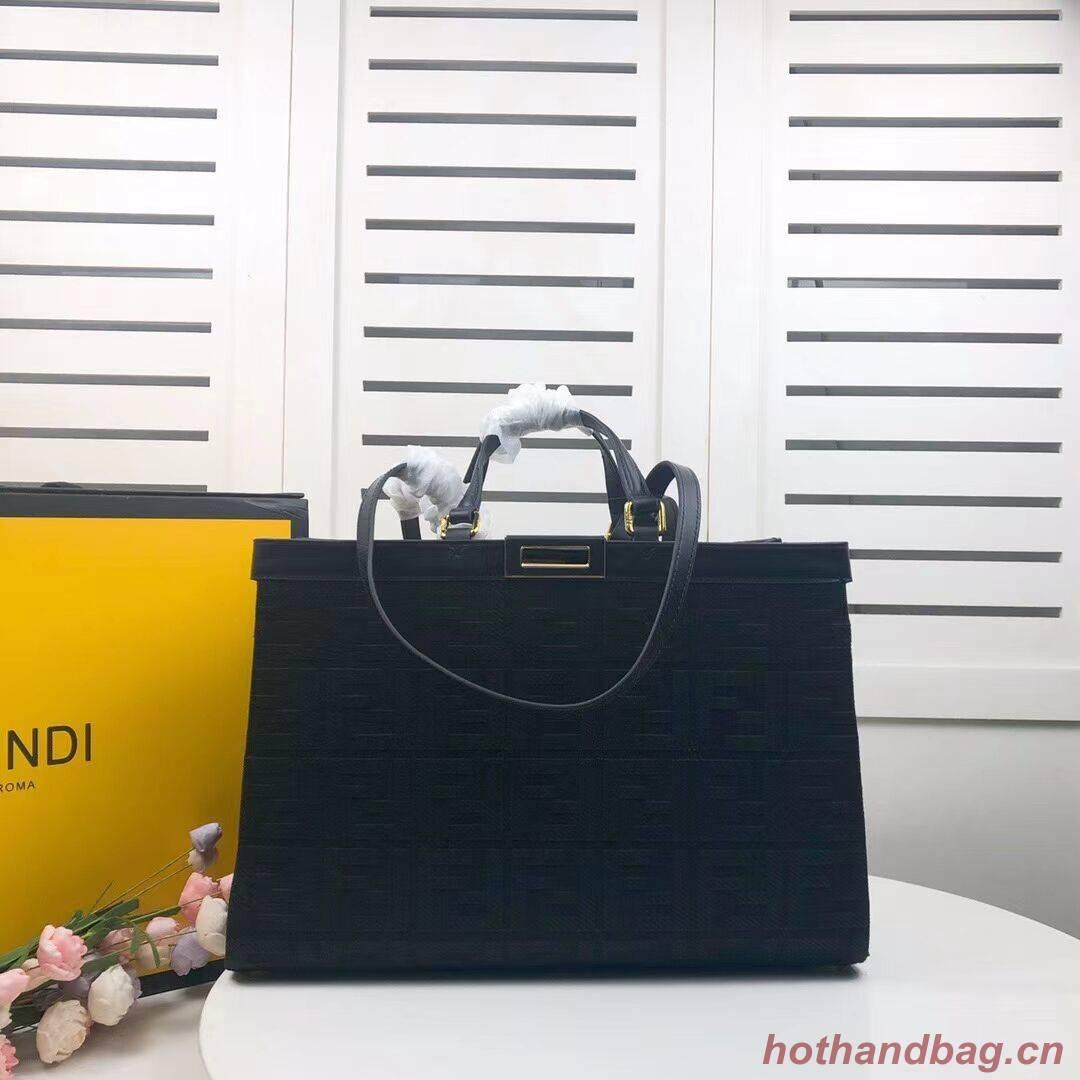 FENDI PEEKABOO X-TOTE canvas bag 8BH374A black