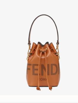 FENDI MON TRESOR Brown leather mini-bag 8BS010