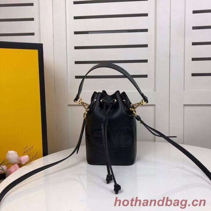 FENDI MON TRESOR black leather mini-bag 8BS010