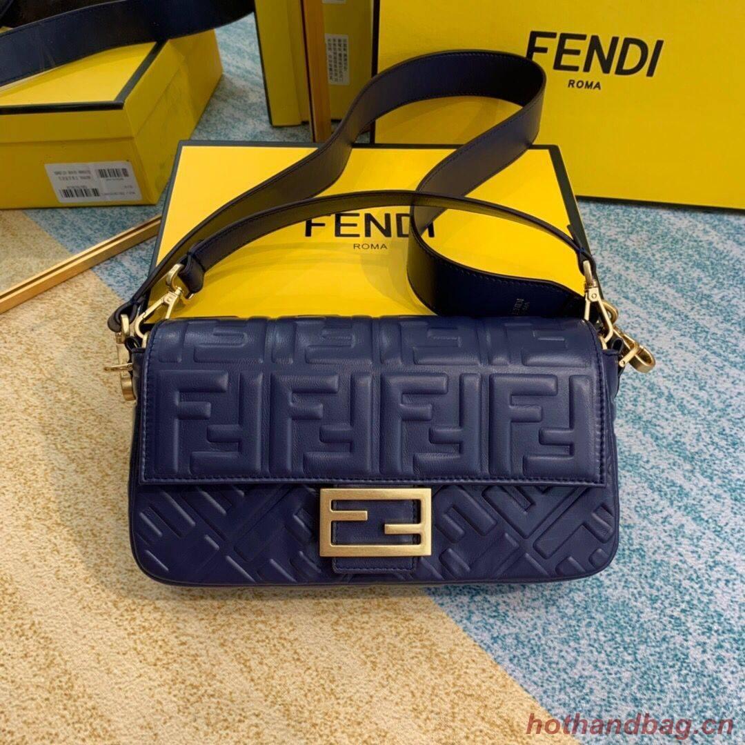 FENDI BAGUETTE Mini Shoulder Bag 8BS017 dark blue
