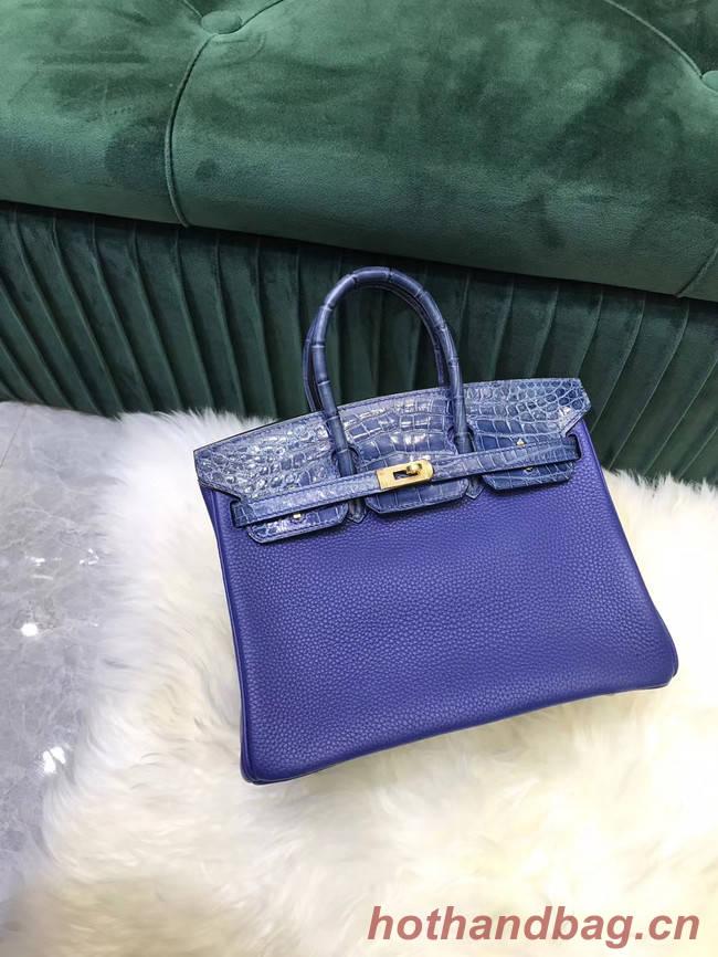 Hermes Birkin Bag Original Leather crocodile togo HBK2530 Blue