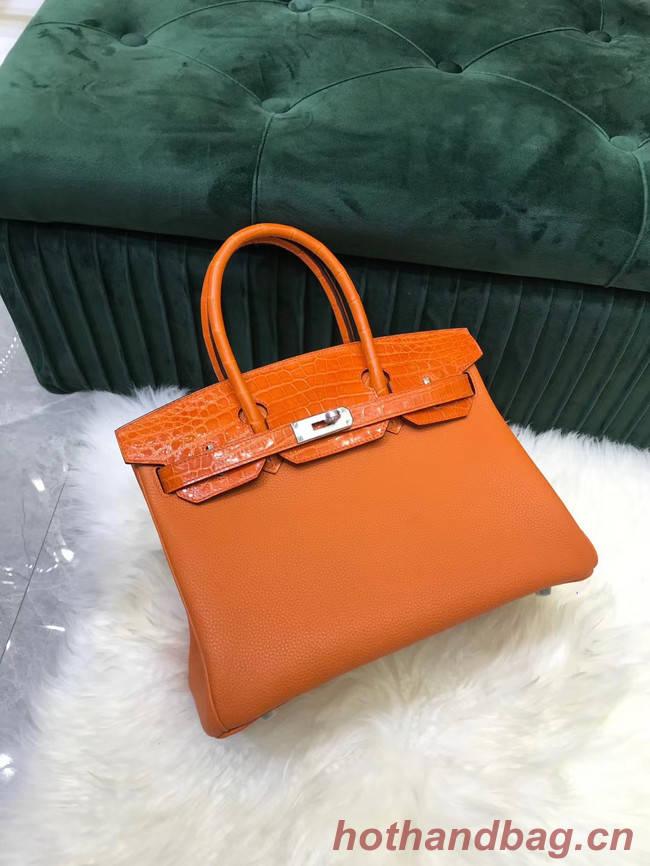 Hermes Birkin Bag Original Leather crocodile togo HBK2530 orange