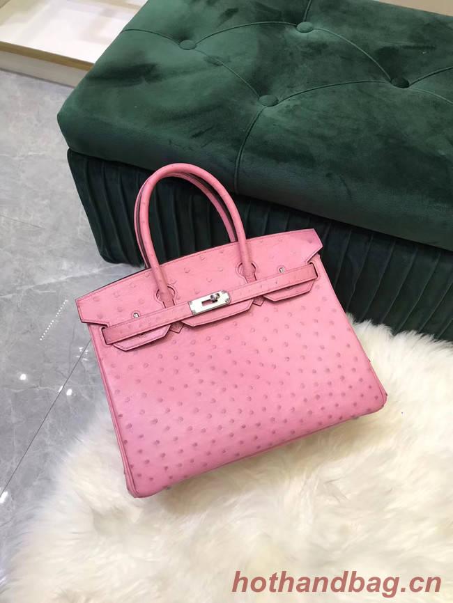Hermes Birkin Bag Original Leather Ostrich skin HBK2530 pink