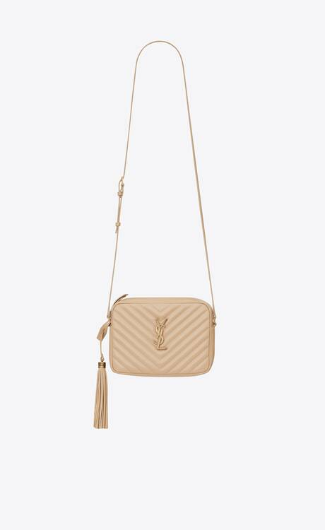 Yves Saint Laurent LOU CAMERA BAG IN QUILTED LEATHER 612544 IVORY NATURAL