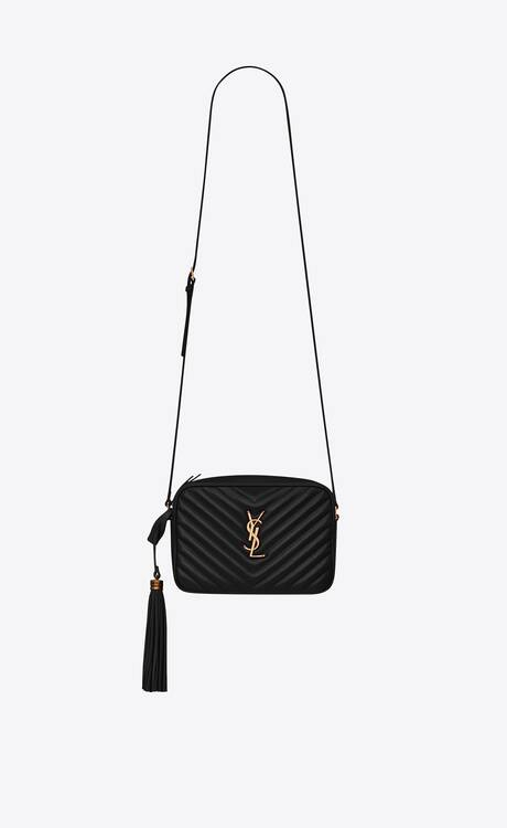 Yves Saint Laurent LOU CAMERA BAG IN QUILTED LEATHER 612544 black