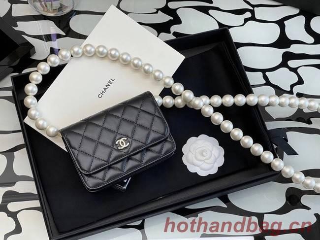 Chanel Sheepskin Original Leather Pocket AP2059 black