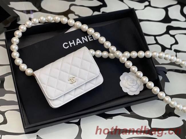 Chanel Sheepskin Original Leather Pocket AP2059 white