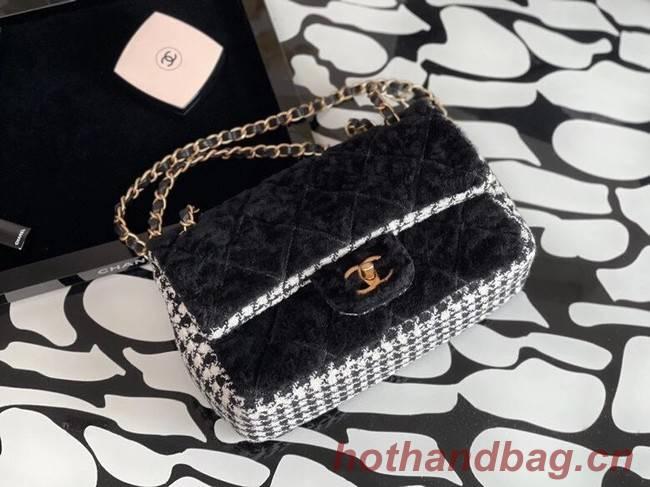 Chanel classic handbag Tweed & Gold-Tone Metal A01112-4