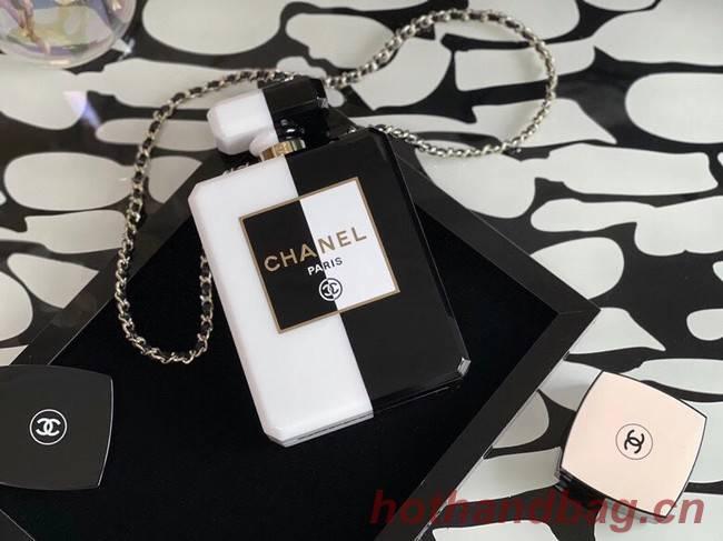 Chanel mini wallet on chain Gold-Tone Metal A8455 black&white