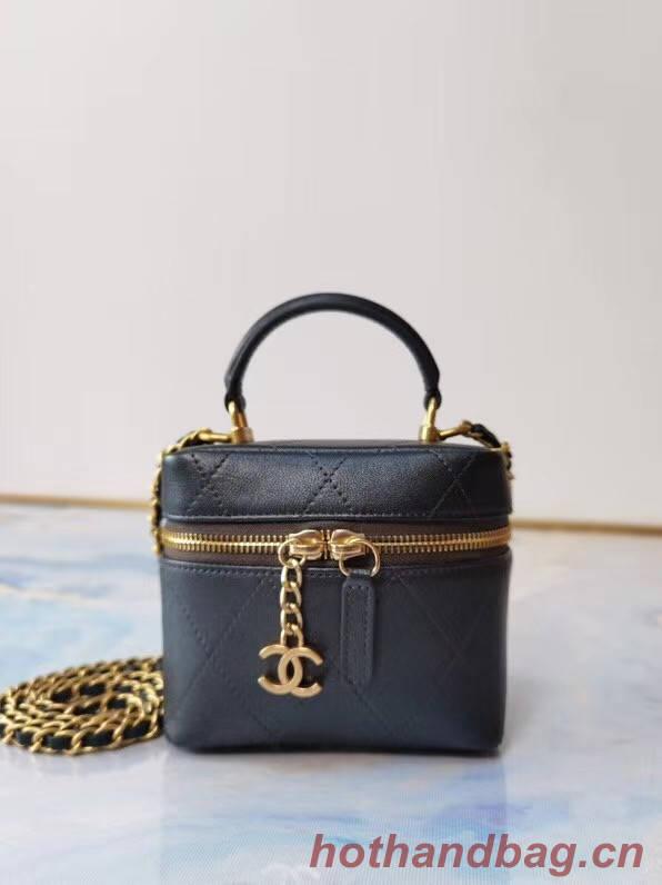 Chanel Lambskin Crystal Calfskin & Gold-Tone Metal AS1889 black