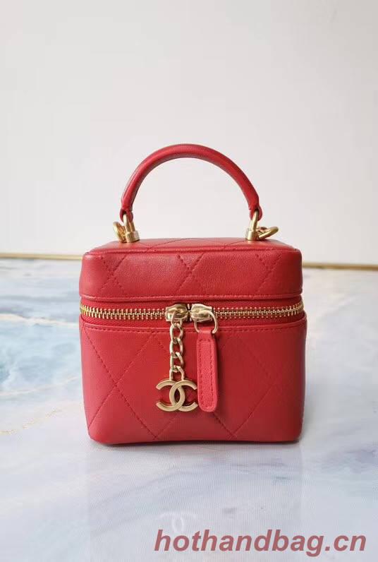 Chanel Lambskin Crystal Calfskin & Gold-Tone Metal AS1889 red