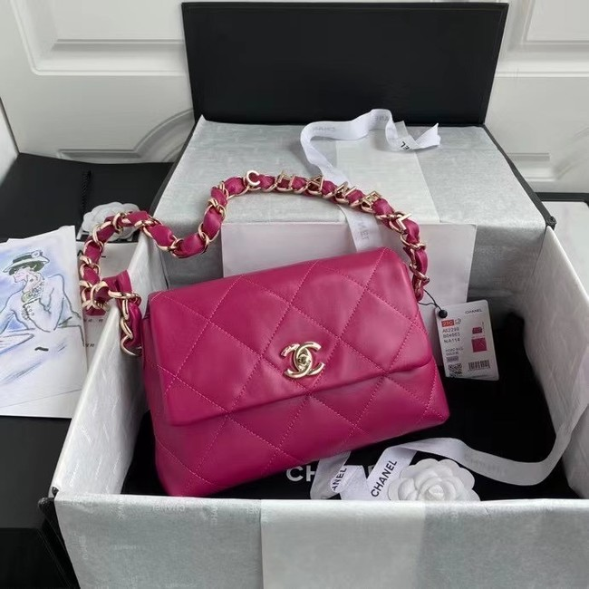Chanel flap bag Lambskin & Gold-Tone Metal AS2299 rose