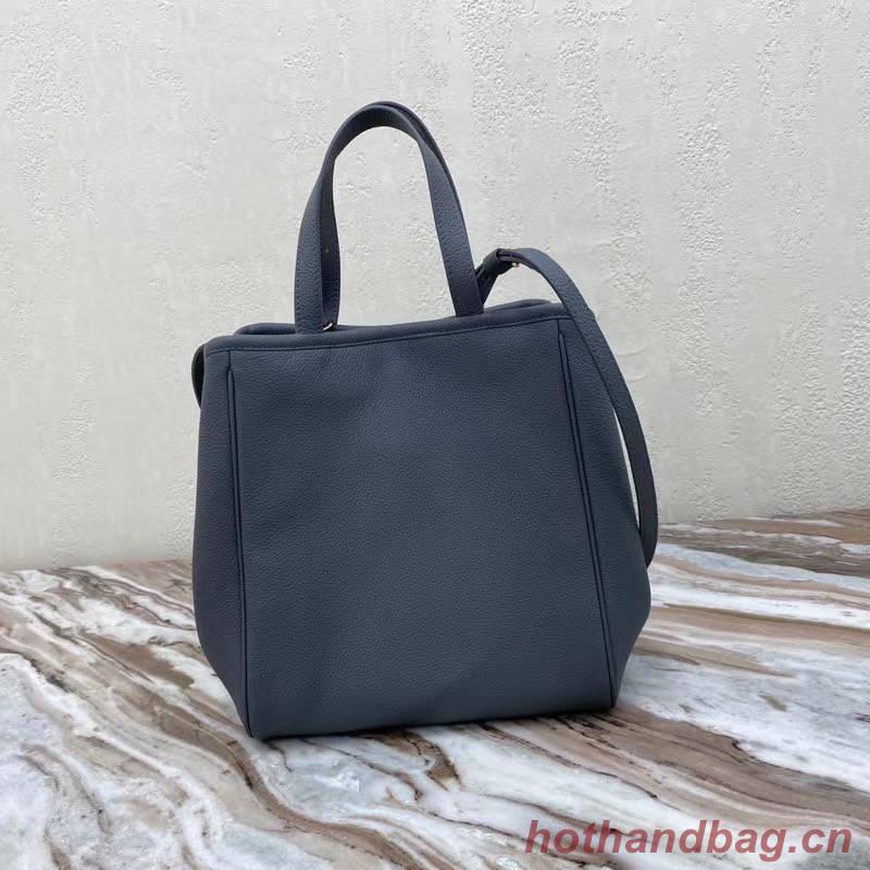 Celine LARGE SOFT BAG IN SUPPLE GRAINED CALFSKIN 55825 dark gray