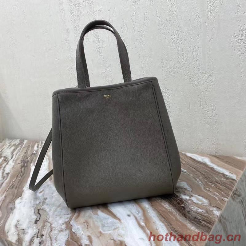 Celine LARGE SOFT BAG IN SUPPLE GRAINED CALFSKIN 55825 gray