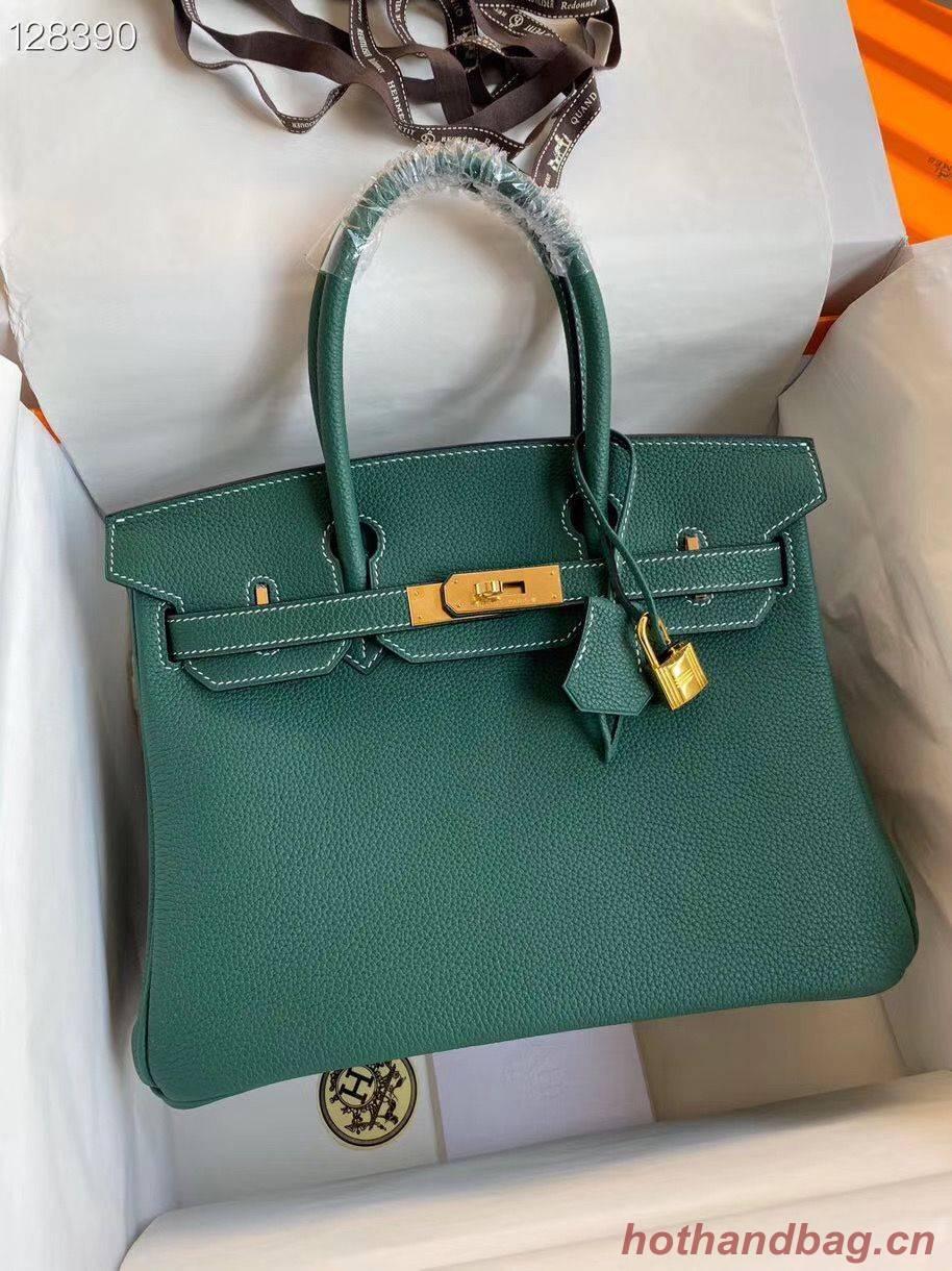 Hermes Birkin Bag Original Togo Leather 17825 Green