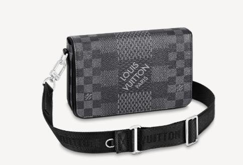 Louis Vuitton Original STUDIO MESSENGER N50013 black