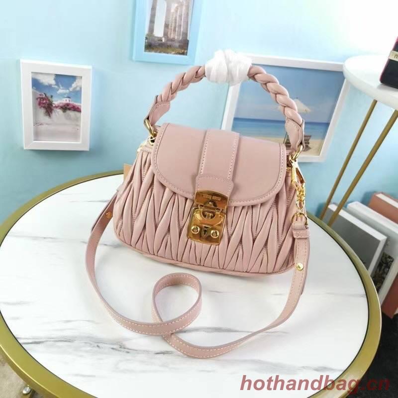 miu miu Matelasse Nappa Leather Top-handle Bag 6998 pink