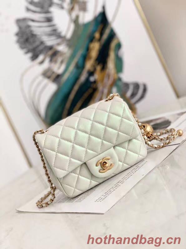 chanel flap bag Iridescent Calfskin&Gold-Tone AS1115