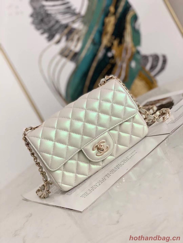chanel flap bag Iridescent Calfskin&Gold-Tone AS1116