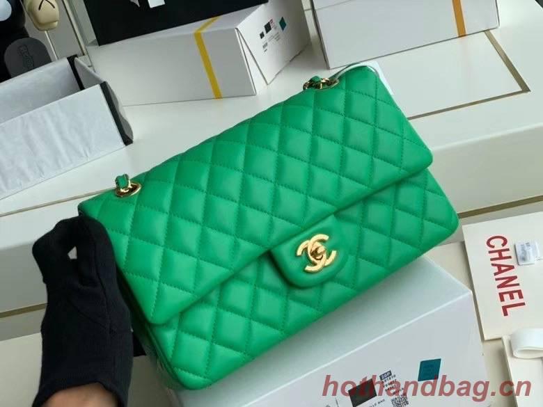Chanel Flap Shoulder Bag Original Sheepskin leather A1112 Green