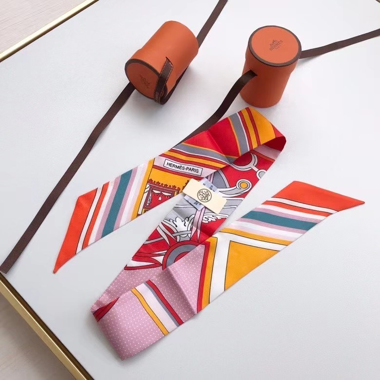 Hermes Twilly Small silk scarf H06347