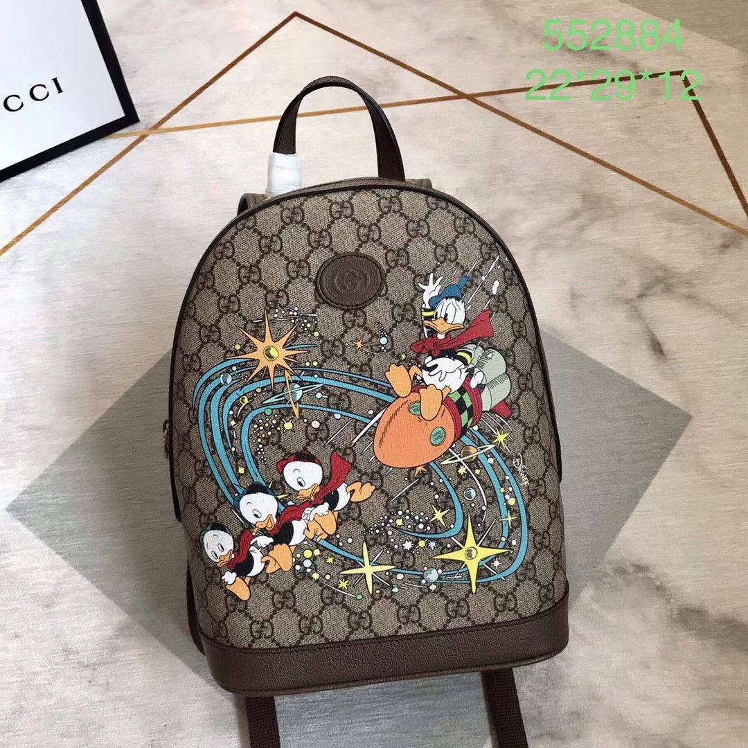 Gucci GG Supreme canvas backpack 552884 brown