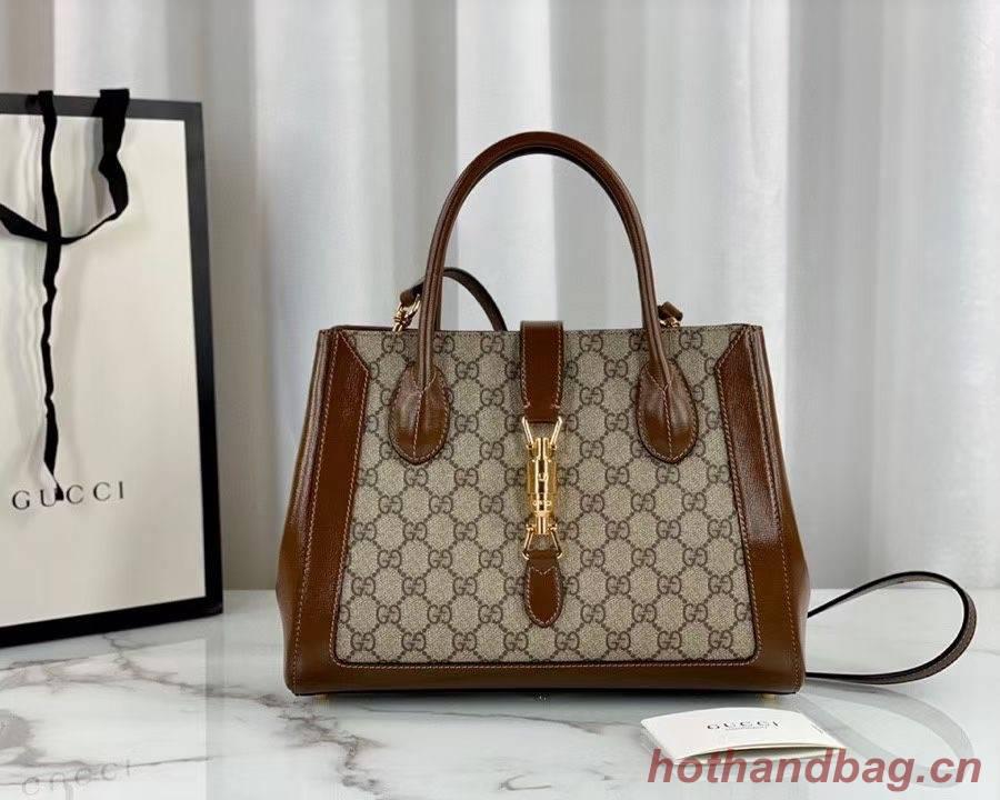 Gucci Jackie 1961 medium tote bag 649016 brown