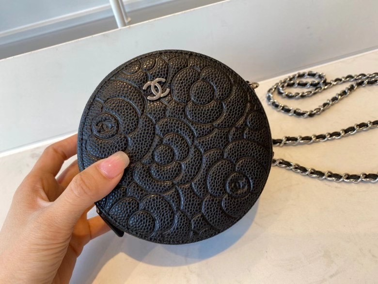chanel classic clutch with chain Lambskin & silver-Tone Metal AP3319 black